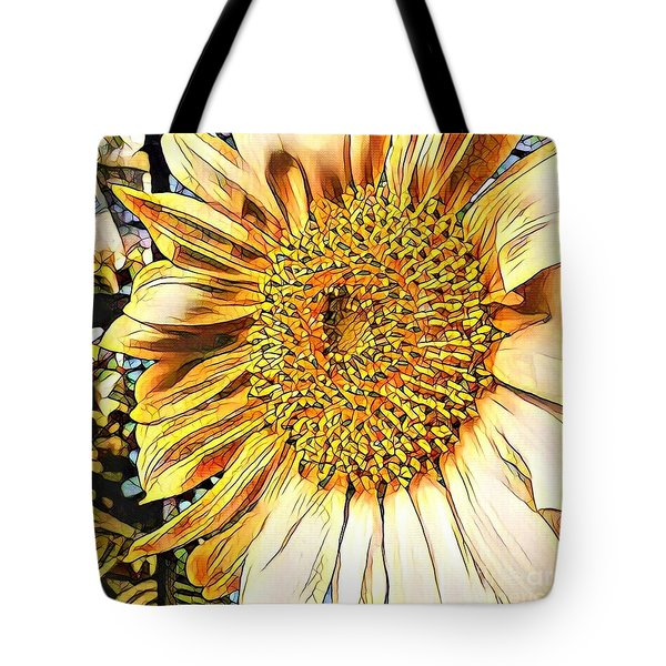 Sunflower In The Alley Tote Bag