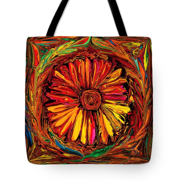 Sunflower Emblem Tote Bag