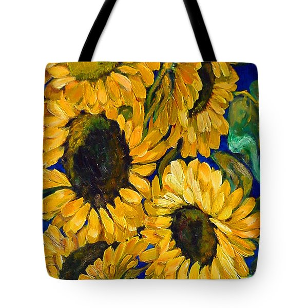 Sunflower Faces Tote Bag