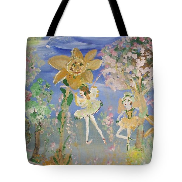 Sunflower Fairies Tote Bag by Judith Desrosiers