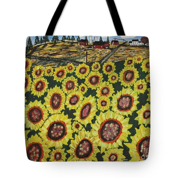 Sunflower Fields  Forever Tote Bag by Jeffrey Koss