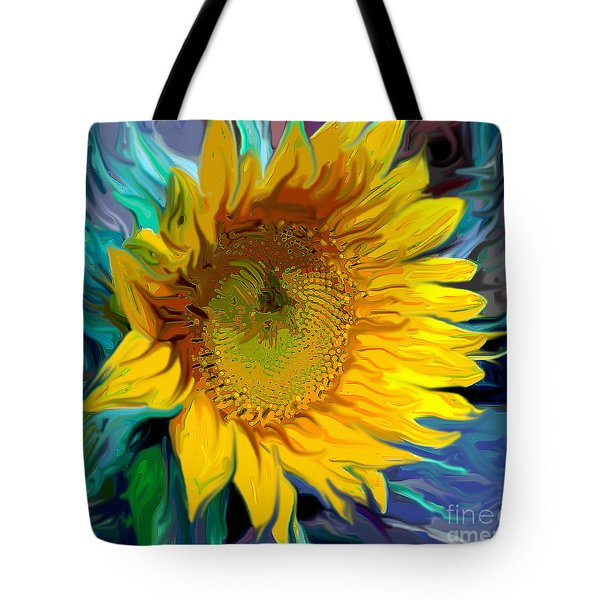 Sunflower For Van Gogh Tote Bag by Jeanne Forsythe