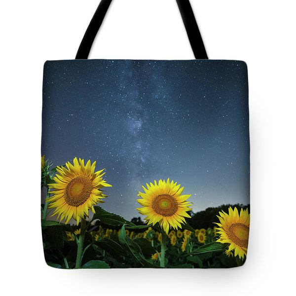 Sunflower Galaxy V Tote Bag