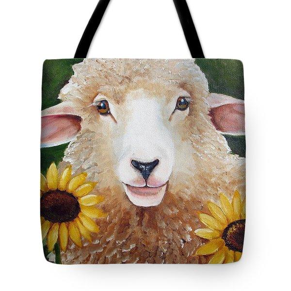 Sunflower Girl Tote Bag