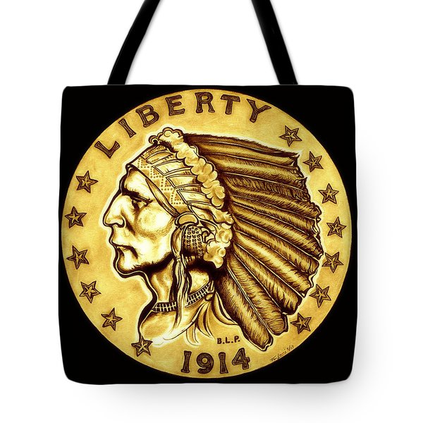 Sunflower Gold Quarter Eagle Tote Bag