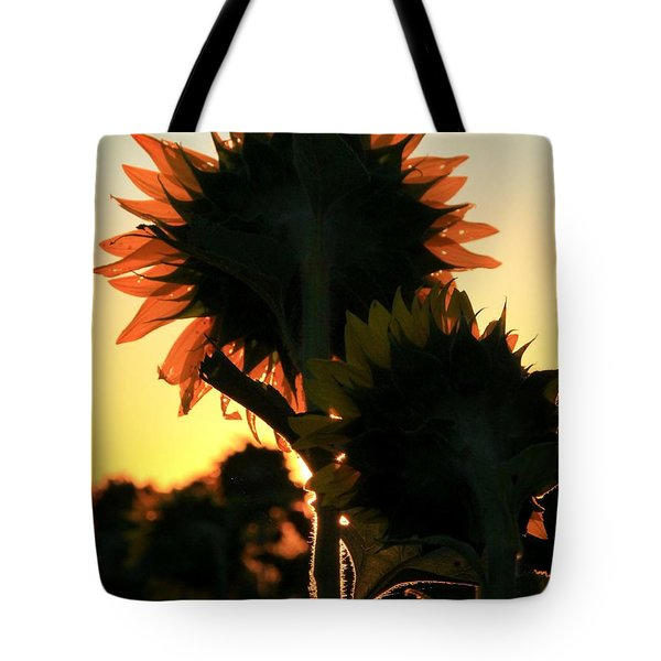 Tote Bag featuring the photograph Sunflower Greeting  by Chris Berry
