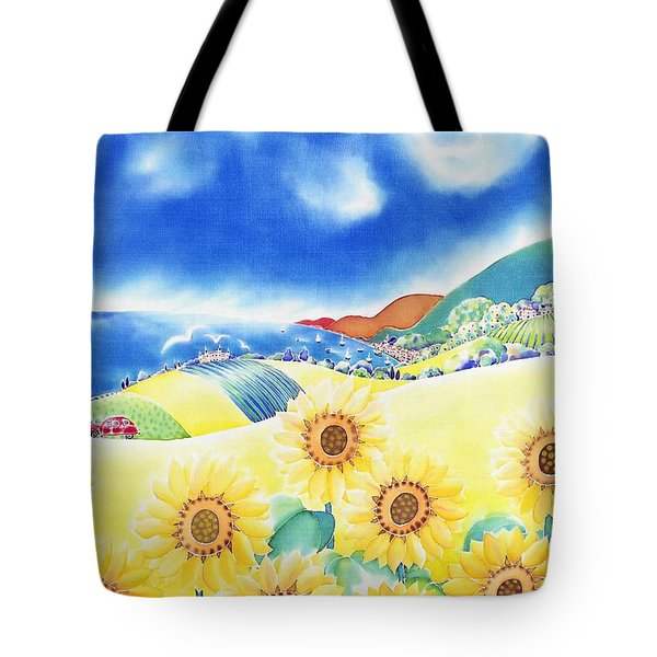 Sunflower Hills Tote Bag
