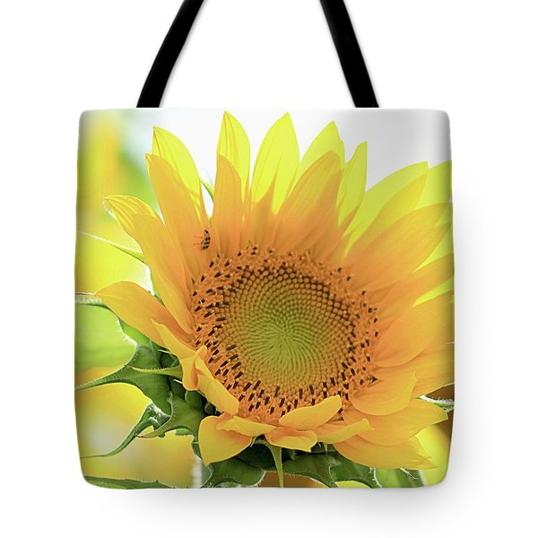 Sunflower In Golden Glow Tote Bag