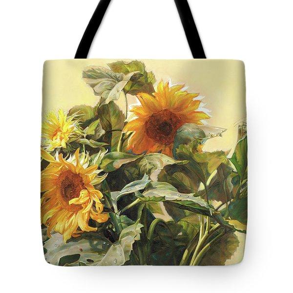 Sunflower In Love - Good Morning America Tote Bag