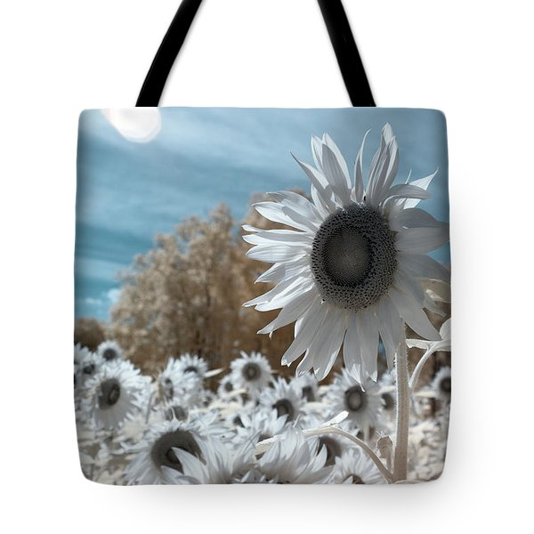 Sunflower Infrared  Tote Bag