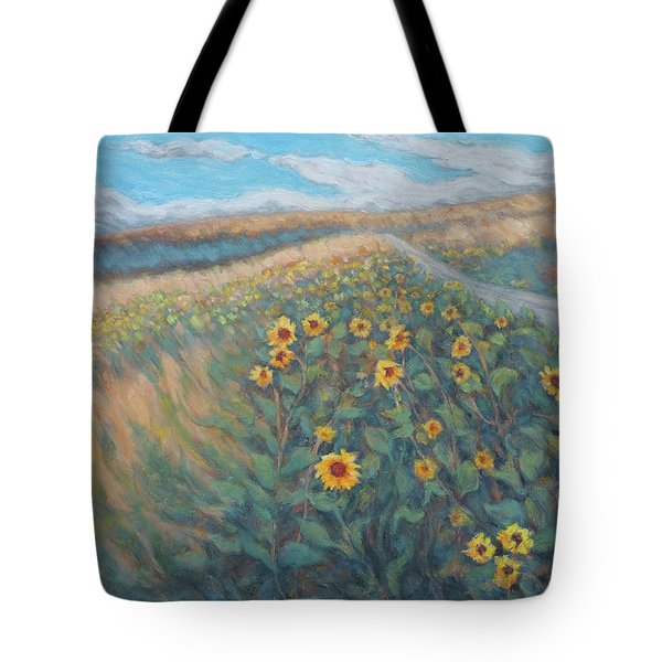 Sunflower Journey Tote Bag