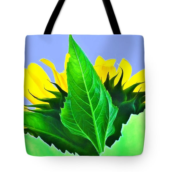 Tote Bag featuring the photograph Sunflower by Ludwig Keck