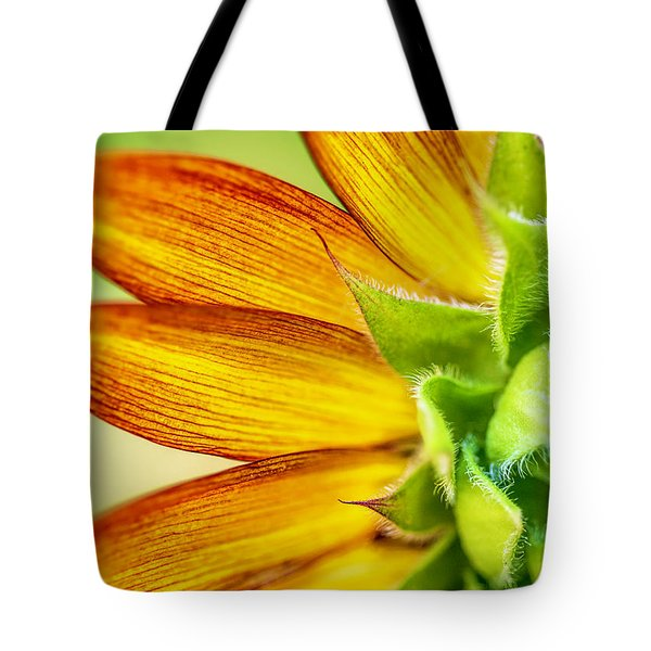 Tote Bag featuring the photograph Sunflower Macro 1 by Keith Smith