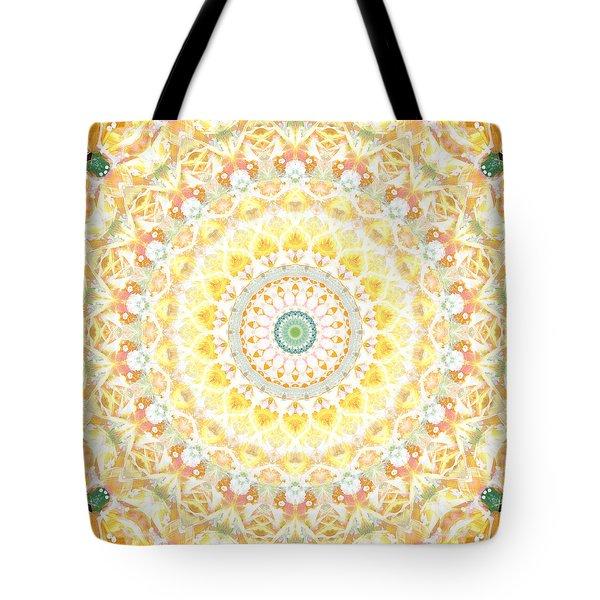 Sunflower Mandala- Abstract Art By Linda Woods Tote Bag