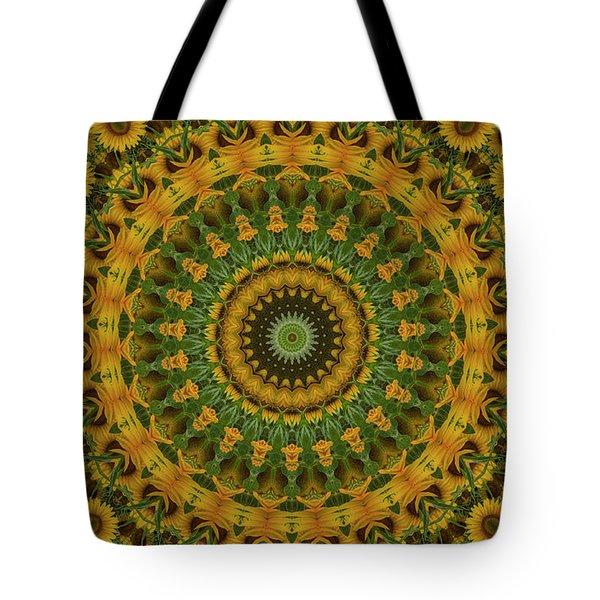 Sunflower Mandala Tote Bag
