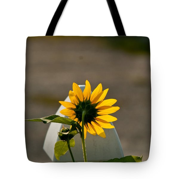 Sunflower Morning Tote Bag by Douglas Barnett