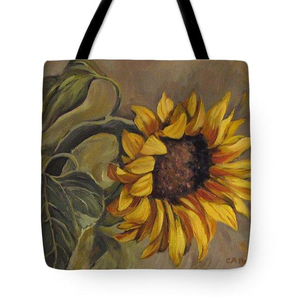 Sunflower Nod Tote Bag by Cheryl Pass