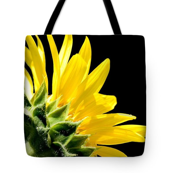 Sunflower On Black Tote Bag