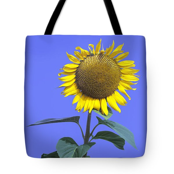 Sunflower On Blue Too Tote Bag