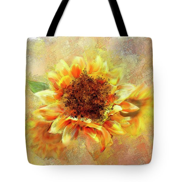 Sunflower On Fire Tote Bag