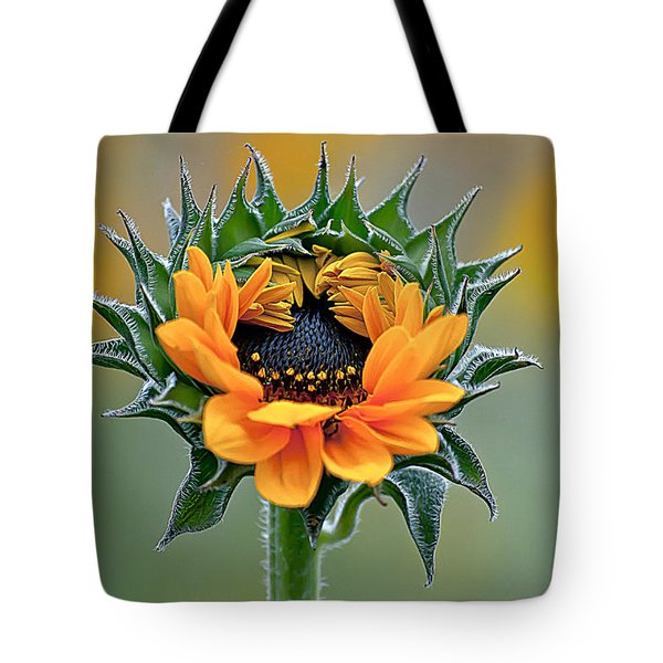 Sunflower Opens Tote Bag by Emerald Studio Photography