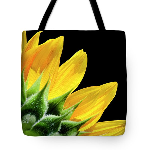 Tote Bag featuring the photograph Sunflower Petals by Christina Rollo