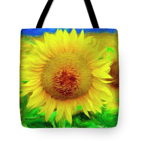 Sunflower Posing Tote Bag by Jeffrey Kolker