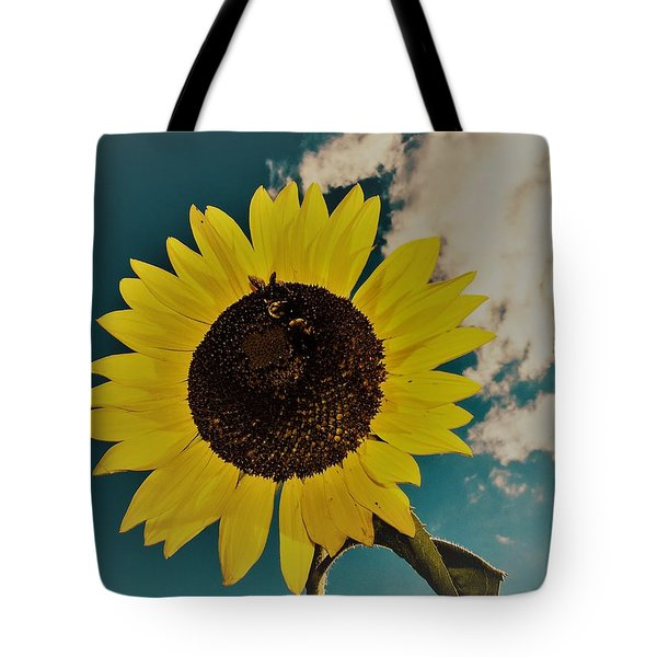 Tote Bag featuring the photograph Sunflower by Randy Sylvia
