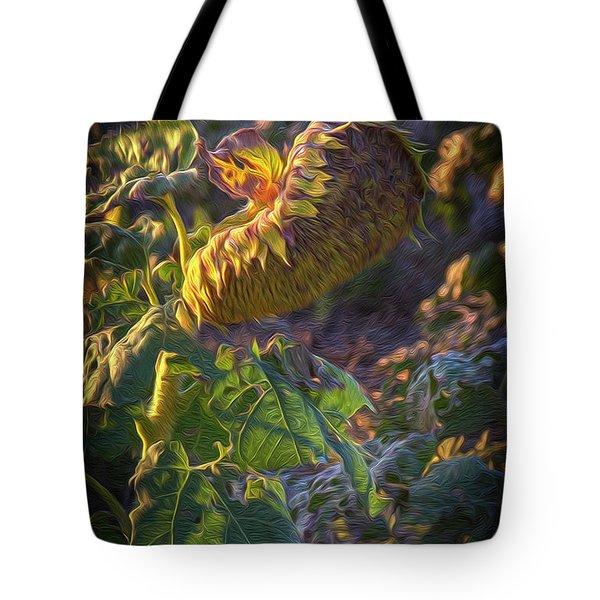 Sunflower Repose Tote Bag