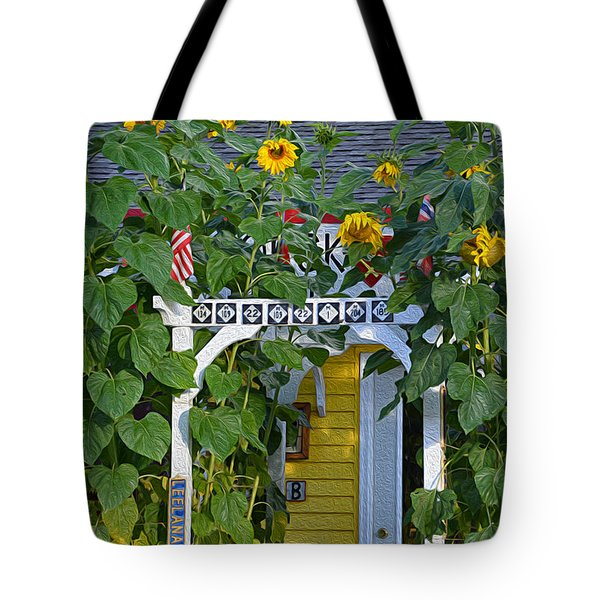 Sunflower Roads Tote Bag