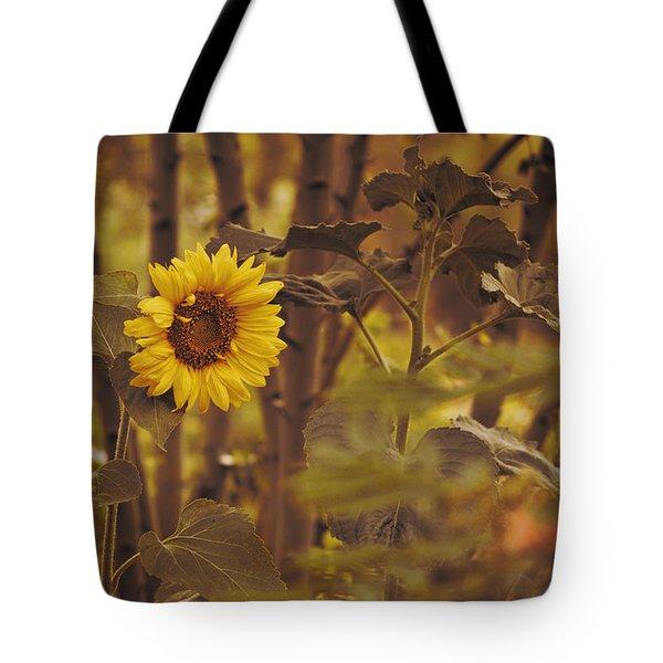 Sunflower Sentry Tote Bag