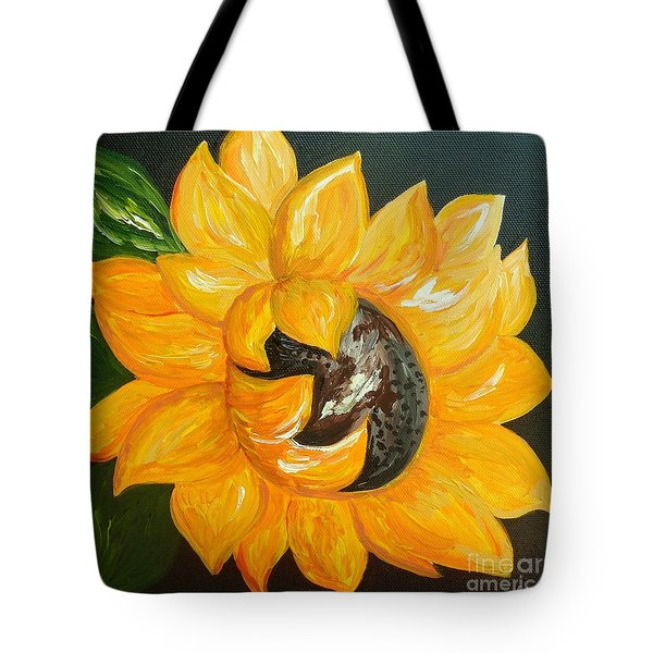 Sunflower Solo Tote Bag by Eloise Schneider