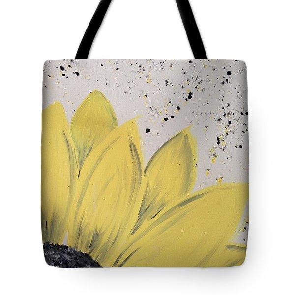 Sunflower Splatter Tote Bag