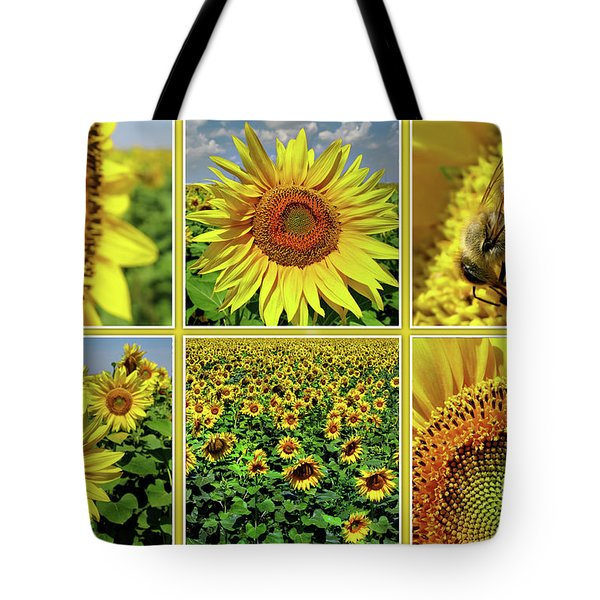 Sunflower Story - Collage Tote Bag
