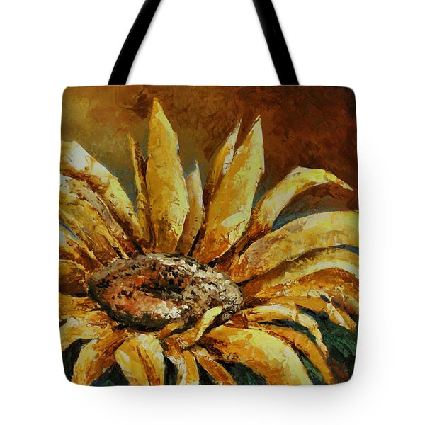 Sunflower Study Tote Bag by Michael Lang