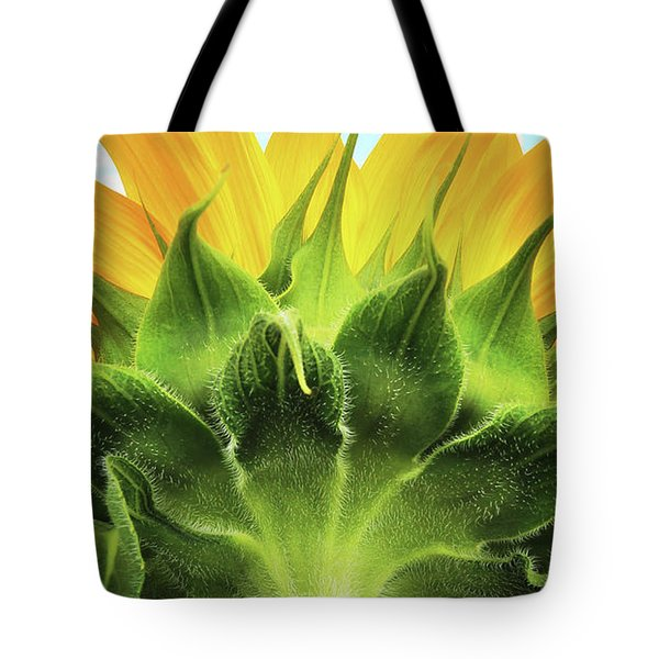 Sunflower Sunburst Tote Bag