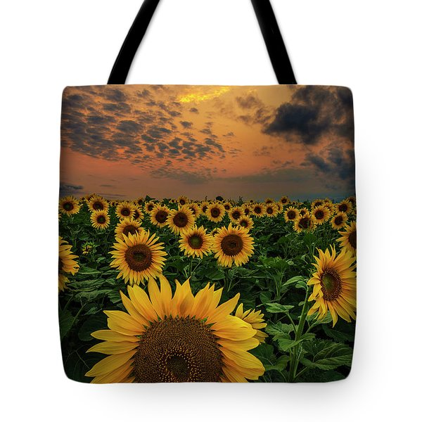 Sunflower Sunset  Tote Bag