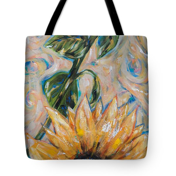 Tote Bag featuring the painting Sunflower Sunshine by Linda Olsen