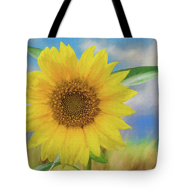 Tote Bag featuring the photograph Sunflower Surprise by Bonnie Barry