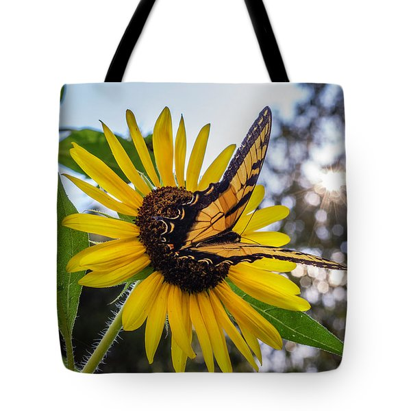Tote Bag featuring the photograph Sunflower Swallowtail by Keith Smith
