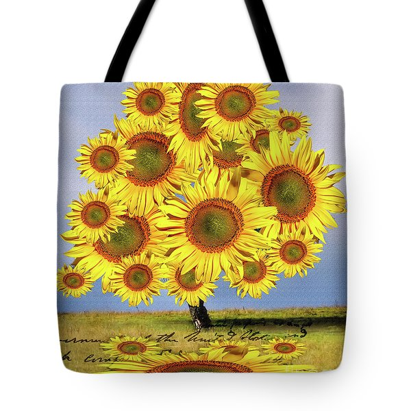 Sunflower Tree Tote Bag