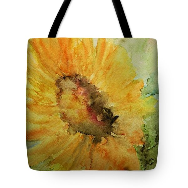 Sunflower Watercolor Tote Bag by AmaS Art