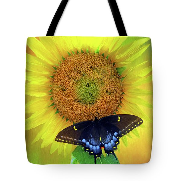 Sunflower With Company Tote Bag