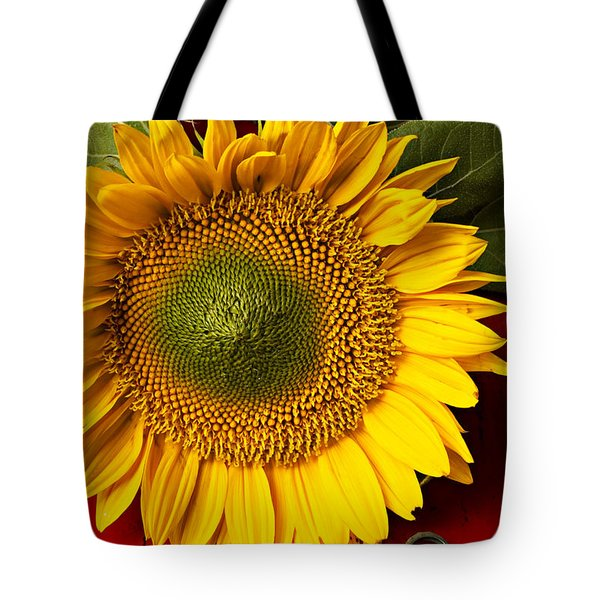 Sunflower With Old Key Tote Bag