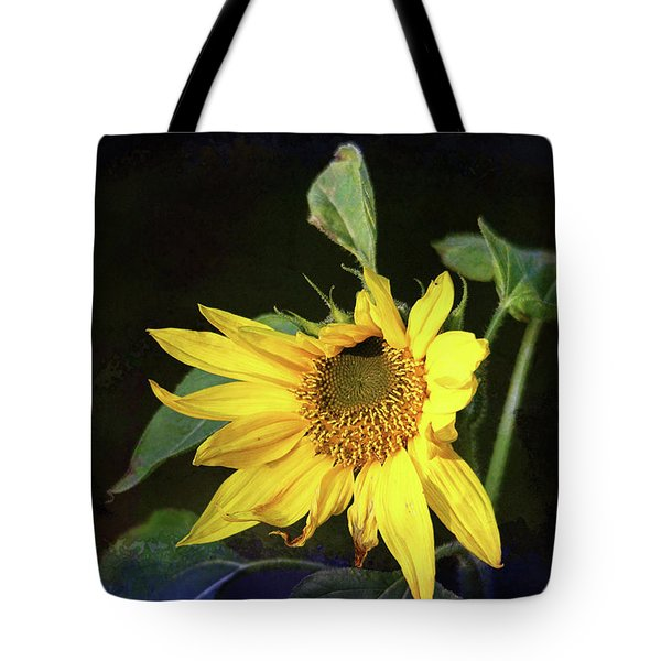 Tote Bag featuring the photograph Sunflower With Texture by Trina Ansel