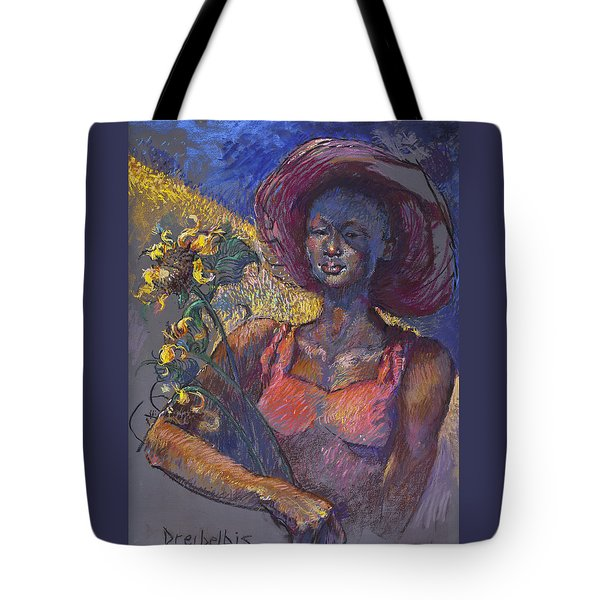 Sunflower Woman Tote Bag