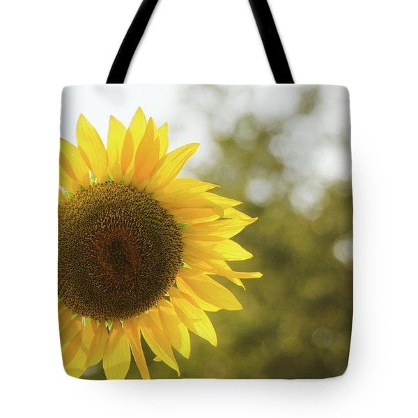 Tote Bag featuring the photograph Sunflowers 12 by Andrea Anderegg