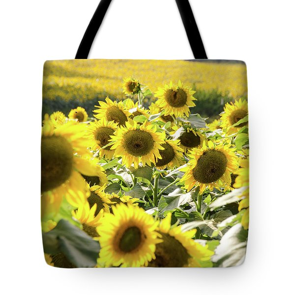 Tote Bag featuring the photograph Sunflowers 13 by Andrea Anderegg