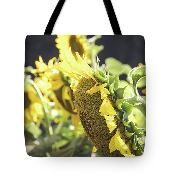 Tote Bag featuring the photograph Sunflowers 4 by Andrea Anderegg