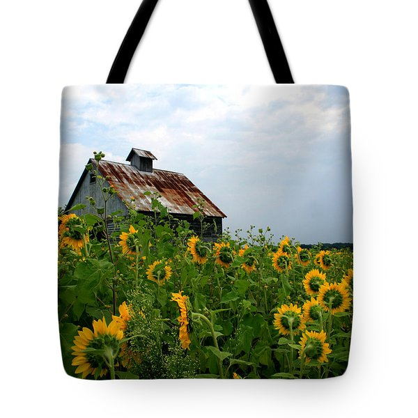 Sunflowers Along Rt 6 Tote Bag